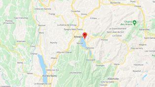 L'agression s'est produite à Veyrier-du-Lac (Haute-Savoie), le mercredi 28 juillet 2021. (GOOGLE MAPS)