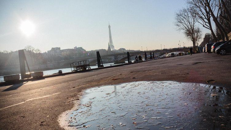 Vague de froid, à Paris, le 19 janvier 2017. (MAXPPP)