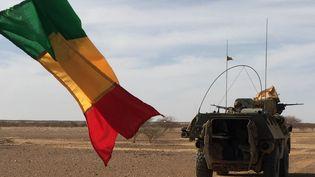 Des soldats de l'opération Barkhane en patrouille dans le centre du Mali, en novembre 2017. (DAPHNE BENOIT / AFP)