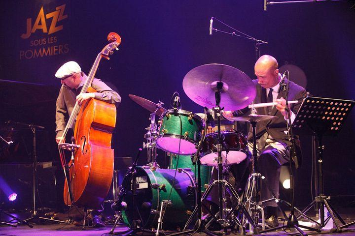 John Hebert (contrebasse) et Eric McPherson (batterie) au Théâtre de Coutances (26 mai 2017)  (Isabelle Laurence)