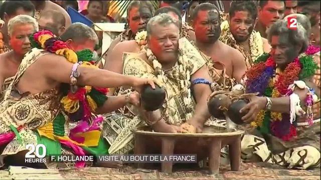 François Hollande a atterri à Tahiti