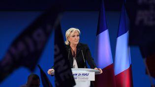 Marine Le Pen, le 23 avril 2017, à Hénin-Beaumont (Pas-de-Calais). (ALAIN JOCARD / AFP)