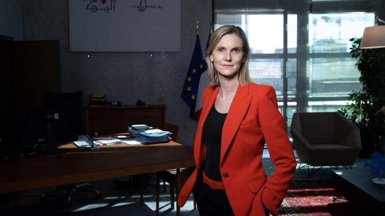 Laministre déléguée à l'Industrie Agnès Pannier-Runacher, le 22 juillet 2020 à Paris; (JOEL SAGET / AFP)
