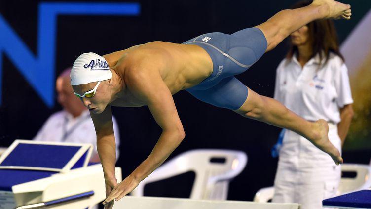 Le nageur tricolore Damien Joly (PASCAL GUYOT / AFP)