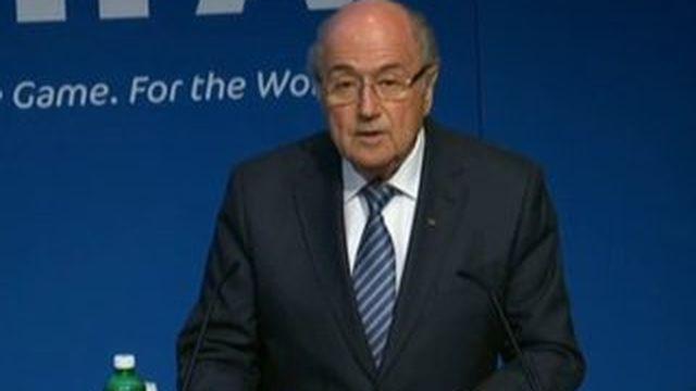 Sepp Blatter annonce sa démission de la présidence de la Fifa