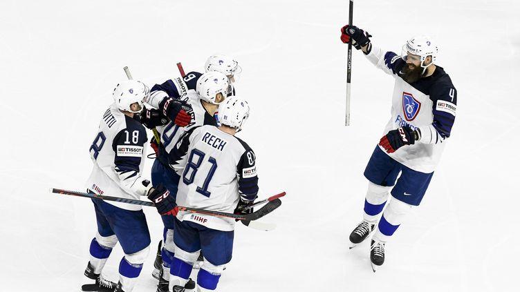 L'équipe de France de hockey (JONATHAN NACKSTRAND / AFP)