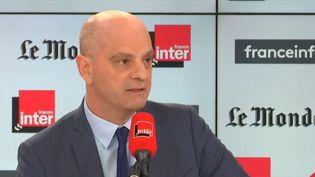 Jean-Michel Blanquer, ministre de l'Éducation nationale, était l'invité de Questions politiques dimanche 19 janvier. (FRANCEINFO / RADIO FRANCE)