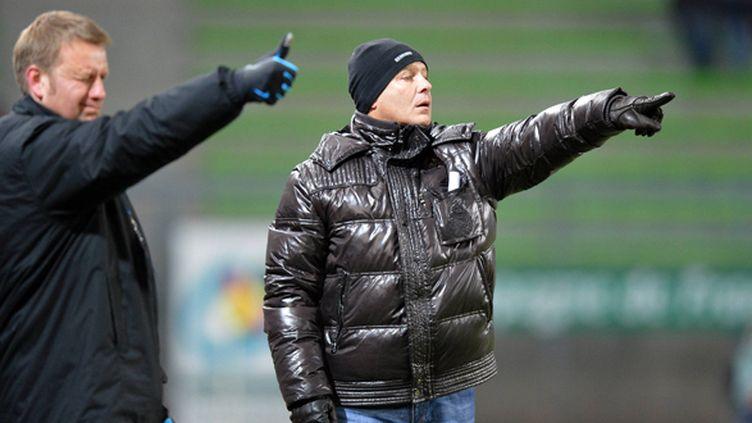 Frédéric Petereyns (l'adjoint) et Patrice Garande, le coach de Caen