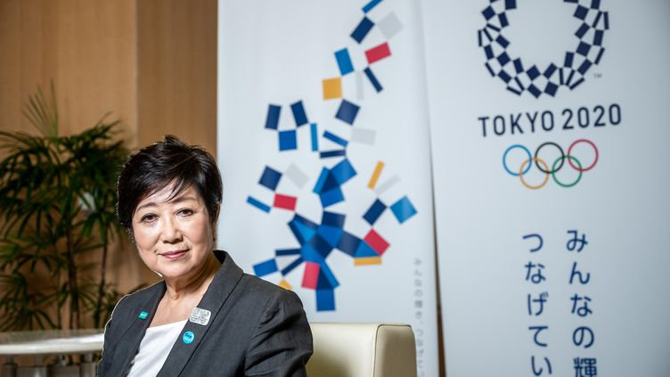 La gouverneure de Tokyo Yuriko Koike, le 12 juin. (PHILIP FONG / AFP)