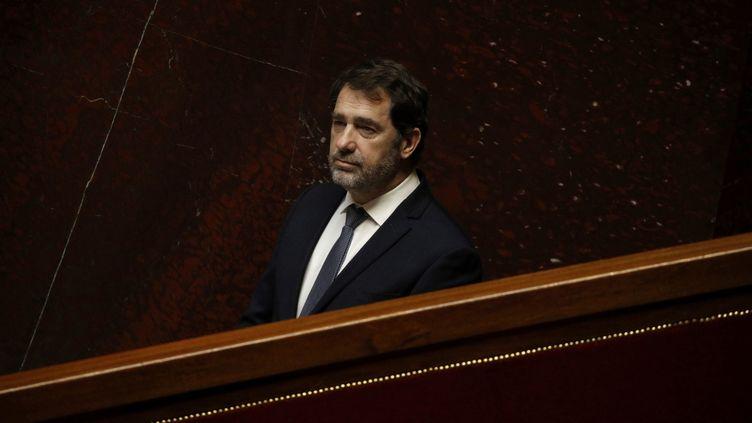Le ministre de l'Intérieur, Christophe Castaner, à l'Assemblée nationale à Paris, le 31 mars 2020. (YOAN VALAT / POOL / AFP)