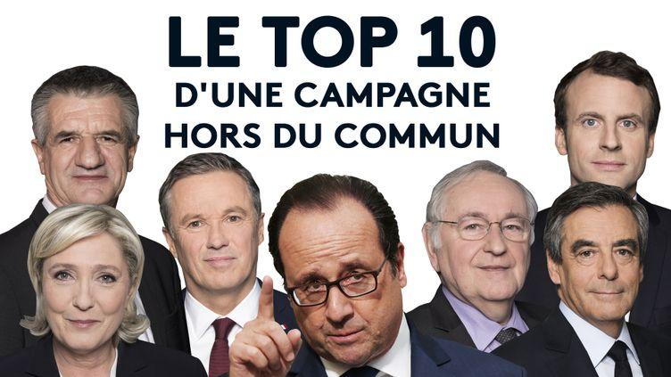 Le top 10 d'une campagne hors du commun. (VINCENT WINTER / FRANCEINFO)