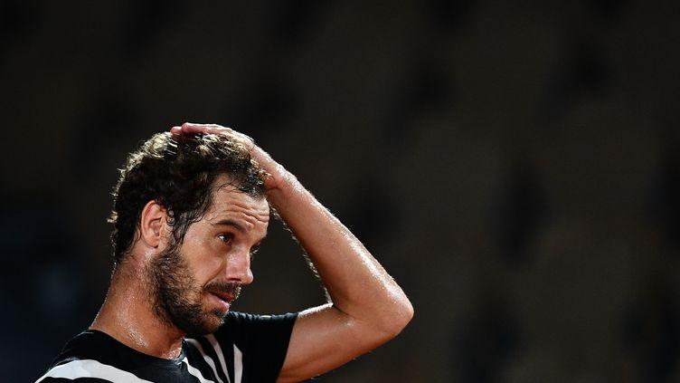 Richard Gasquet au 1er tour de Roland-Garros 2020. (ANNE-CHRISTINE POUJOULAT / AFP)