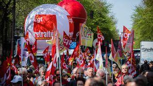 Une manifestation pour demander la revalorisation des pensions de retraites,le 30 mars 2017à Paris. (MAXPPP)