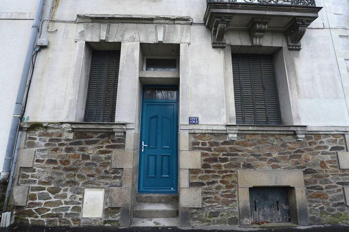La maison où la tuerie a eu lieu, à Nantes (Loire-Atlantique), le 10 février 2014. (FRANCK DUBRAY / MAXPPP)