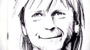 Un dessin de Renaud signé Marc Large  (Marc Large - Capture d'image France3/Culturebox)