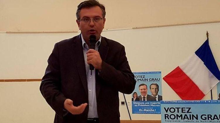 Romain Grau, candidat La République en marche (LREM) dans la première circonscription des Pyrénées-Orientales. (FACEBOOK)