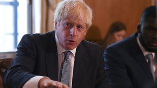 Le Premier ministre britannique Boris Johnson, au 10 Downing Street, à Londres (Royaume-Uni), le 12 août 2019. (DANIEL LEAL-OLIVAS / AFP)