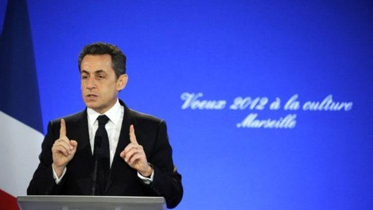 Nicolas Sarkozy (24 janvier 2012) (AFP PHOTO /BORIS HORVAT)