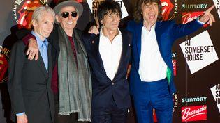 Les Rolling Stones, le 12 juillet 2012. (LEON NEAL / AFP)