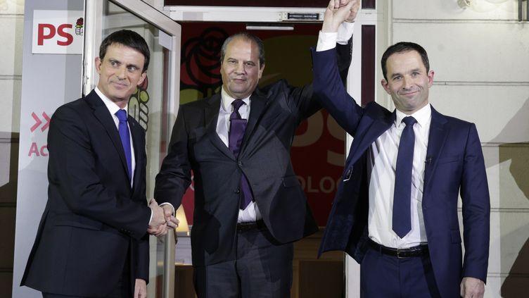 Le Parti socialiste doit élire une nouvelle gouvernance après les départs de Manuel Valls, Jean-Christophe Cambadélis et Benoît Hamon. (GEOFFROY VAN DER HASSELT / AFP)