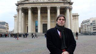 Benoît Quennedey, le 16 novembre 2017, devant le Panthéon à Paris. (AFP)