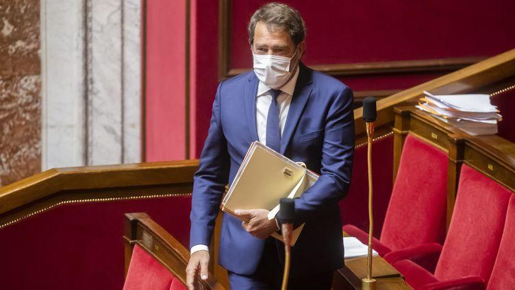 La patron des députés LREM, Christophe Castaner, à l'Assemblée nationale, le 11 mai 2021. (MAXPPP)