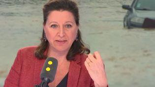 La ministre de la Santé et des Solidarités Agnès Buzyn le 16 octobre 2018 sur franceinfo. (RADIO FRANCE / FRANCE INFO)