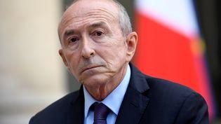 Le ministre de l'Intérieur, Gérard Collomb, est allé briefer les députés de La République en marche concernant le projet de loi antiterroriste qui sera examiné à partir du 25 septembre à l'Assemblée nationale. (BERTRAND GUAY / AFP)