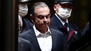L'ancien patron de Renault-Nissan, Carlos Ghosn, le 25 avril 2019 à Tokyo. (BEHROUZ MEHRI / AFP)