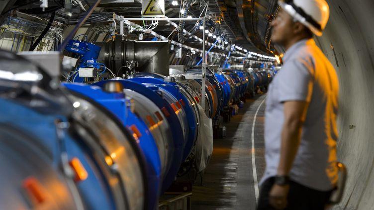 L'accélérateur de particules du Cern, à Meyrin, près de Genève (Suisse), le 19 juillet 2013. (FABRICE COFFRINI / AFP)