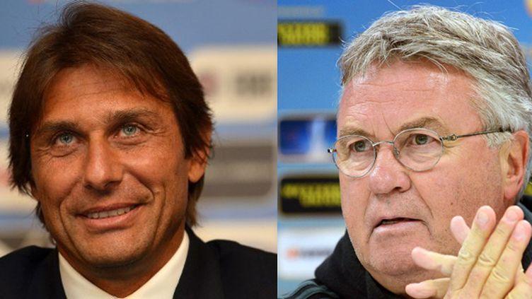 Antonio Conte et Guus Hiddink, les nouveaux sélectionneurs de l'Italie et des Pays-Bas