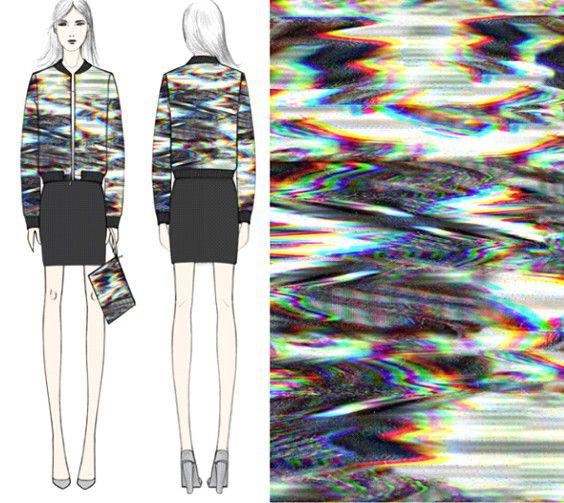 Pour Aubusson 2015, le projet de Christine Phung est de faire tisser une tapisserie « glitchée », floue, donnant une sensation de mouvement puis d'en utiliser le résultat pour assembler les éléments d'une veste Teddy, sportswear, ainsi qu'une pochette souple.Le motif a été réalisé en collaboration avec l'artiste japonais Yoshihide Sodeoka. Le teddy et la pochette seront disponibles au printemps-été 2017.   (Christine Phung)