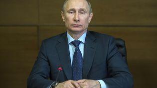 Le président russe, Vladimir Poutine, le 4 mars 2014 à Moscou (Russie). (SERGEY GUNEEV / RIA NOVOSTI)