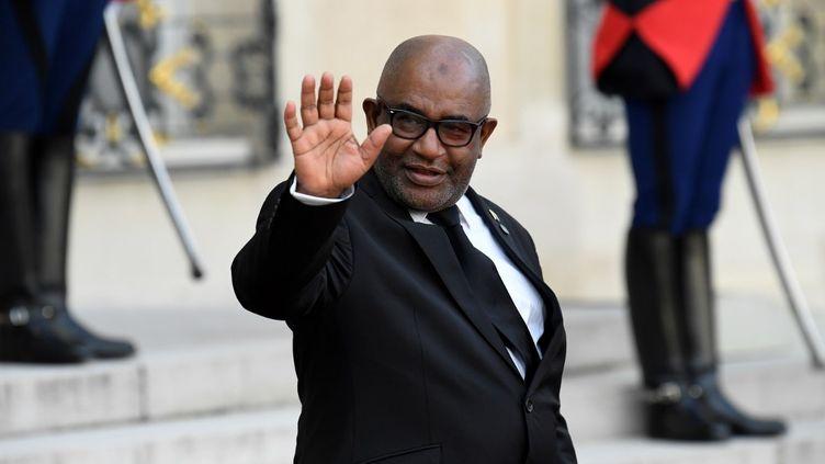 Le président Azali Assoumani à Paris le 30 septembre 2019. (BERTRAND GUAY / AFP)