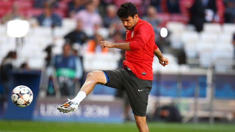 Diego Costa à l'entraînement, vendredi (MANUEL BLONDEAU / AOP PRESS)