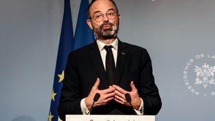 Le Premier ministre Edouard Philippe, le 17 mars 2020 à Paris. (LUDOVIC MARIN / AFP)
