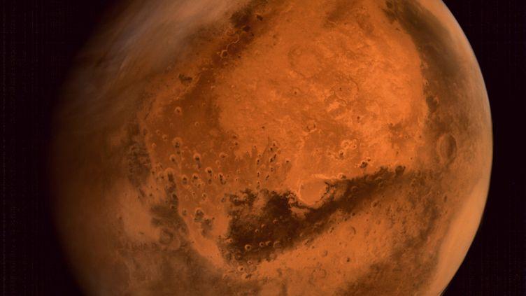 Une photo de la planète Mars, réalisée par le centre de recherches sur l'espace indien, l'ISRO, qui date du 30 septembre 2014. (ISRO / AFP)