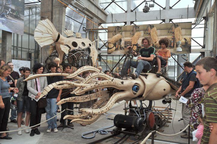 Le calamar à rétropropulsion, Nantes 2013  (FRANK PERRY / AFP)
