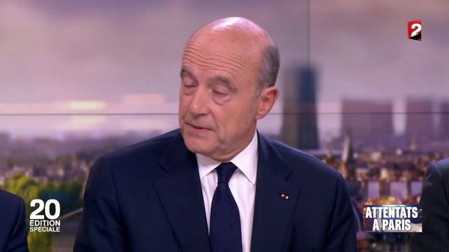"""Attentats à Paris : pour Alain Juppé, """"il n'y a qu'une seule riposte : résister et se battre"""""""