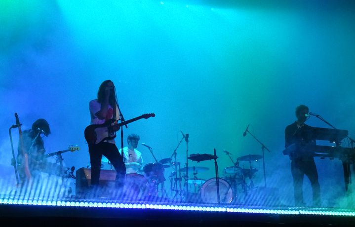Le groupe de pop psychédélique australien Tame Impala au festival We Love Green le dimanche 2 juin 2019. (LAURE NARLIAN / FRANCEINFO CULTURE)