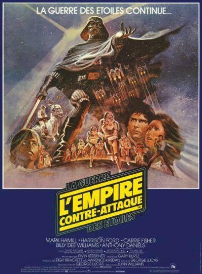 La Guerre des Etoiles - L'Empire contre-attaque de George Lucas. Affiche française 1979.  (Néret-Minet  Tessier & Sarrou)