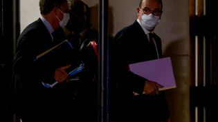 Le Premier ministre, Jean Castex, lors de sa rencontre portant sur le coronavirus avec les leaders de l'opposition à Paris, le mardi 22 septembre 2020 (LUDOVIC MARIN / AFP)