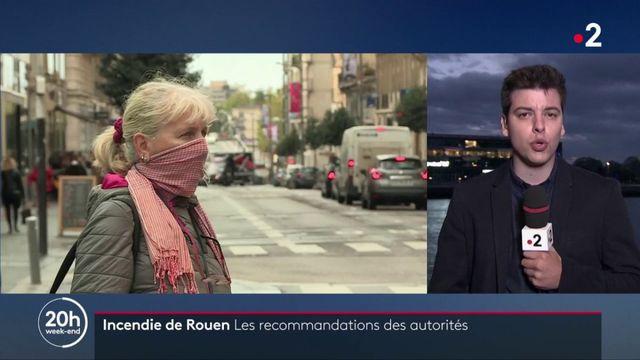 Incendie à Rouen : des recommandations de confinement et un report des récoltes