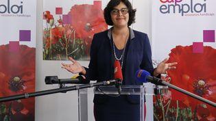 Myriam El Khomri, ministre du Travailau Cap Emploi de Paris, le 25 mai 2016 (MATTHIEU ALEXANDRE / AFP)