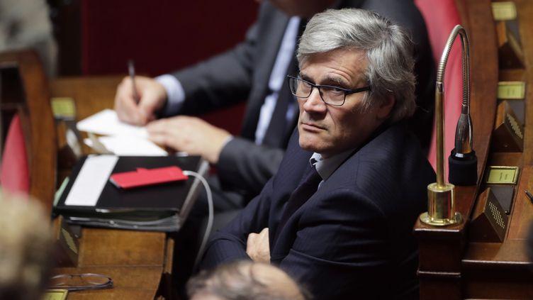 Stéphane Le Foll, le 25 octobre 2017,sur les bancs de l'Assemblée nationale. (THOMAS SAMSON / AFP)