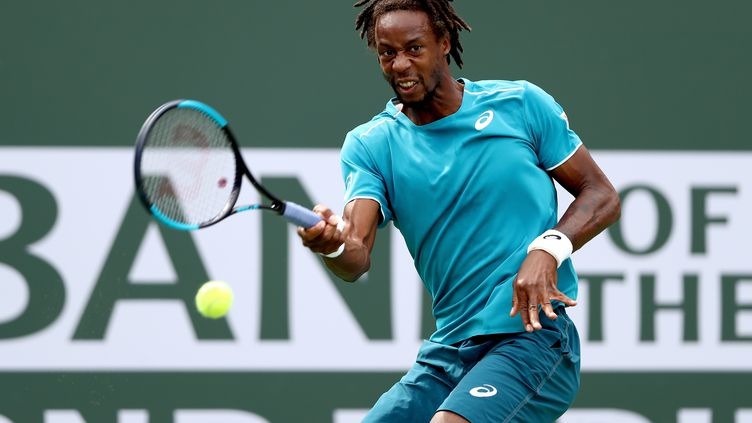 Gaël Monfils grimaçant (MATTHEW STOCKMAN / GETTY IMAGES NORTH AMERICA)