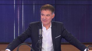 Olivier Faure, premier secrétaire du Parti socialiste, le 5 octobre 2021 sur franceinfo (FRANCEINFO / RADIO FRANCE)