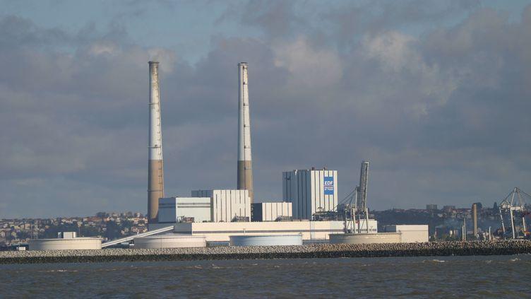 La centrale thermique à charbon du Havre. (PHOTO12 / GILLES TARGAT)