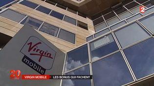 Le siège de l'opérateur Virgin Mobile, à Levallois-Perret (Hauts-de-Seine), le 23 juillet 2015. ( FRANCE 2)