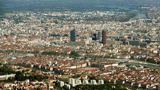 Vue aérienne de Lyon (Rhône). (AFP)